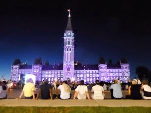 368. Ottawa. Parlamento. Espectáculo de luz y sonido