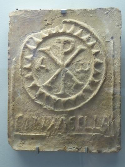 197-cordoba-museo-arqueologico-ladrillo-visigotico-con-crismon-vi-vii-procede-de-puente-genil