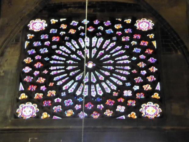 033. Clermont-Ferrand. Catedral. Vidriera del transepto
