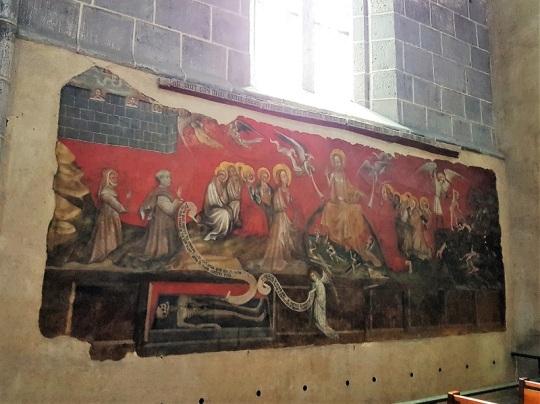 227. Ennezat. San Víctor y Santa Corona. Fresco del Juicio Final. 1405