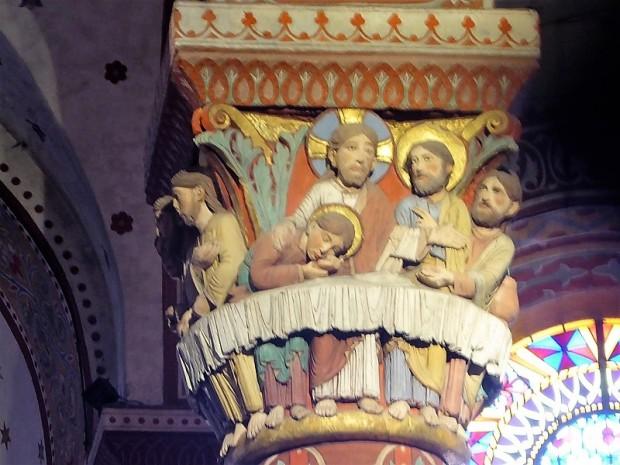 386. Issoire. St-Austremoine. Capitel del coro. La Santa Cena 1