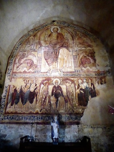 517. Lavaudieu. Claustro. Refectorio. Pinturas de influencia bizantina del XII