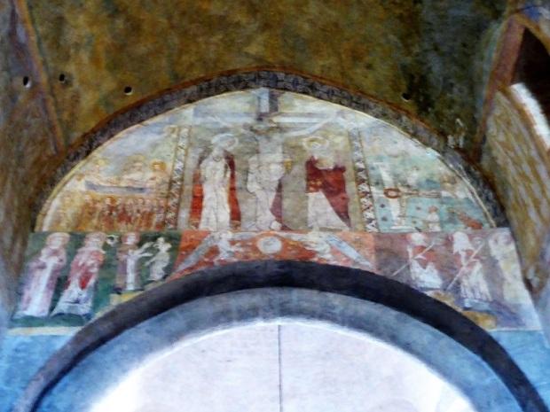 523. Lavaudieu. Iglesia. Pinturas en arco triunfal. 1315