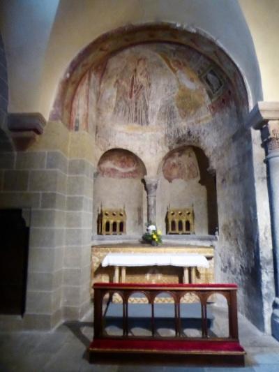 618. Le-Puy-en-Velay. Catedral. Virgen Negra. Capilla oeste del transepto norte. Las Santas Mujeres ante el sepulcro