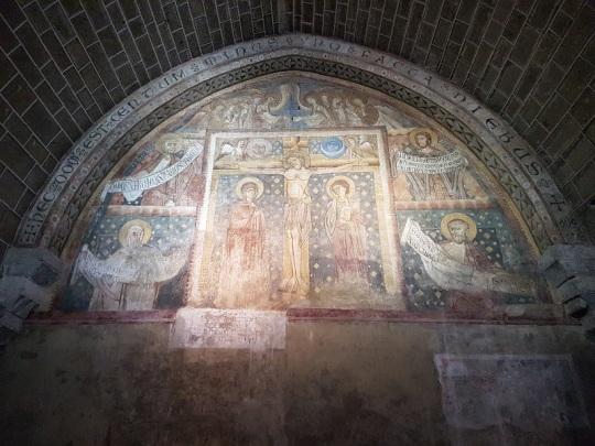669. Le-Puy-en-Velay. Claustro. Sala capitular. Fresco del XIII