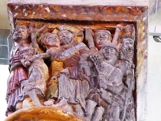 Capitel coro 1. Arresto de Cristo