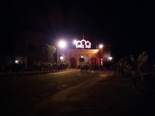 312. Marrakech. cena-espectáculo en Chez Alí