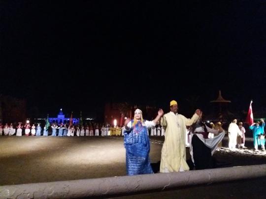 353. Marrakech. cena-espectáculo en Chez Alí