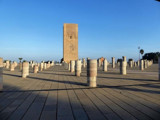 83. Rabat. Torre Hasan y mezquita inacabada