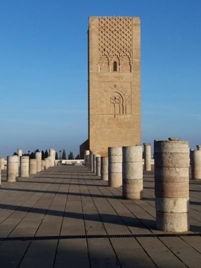 85. Rabat. Torre Hasan y mezquita inacabada