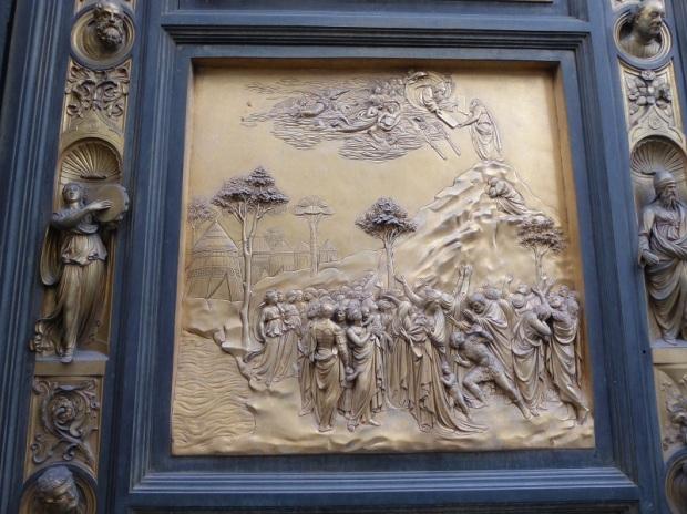 069. Batisterio. Puerta del Paraiso. Obra de Ghiberti. Detalle