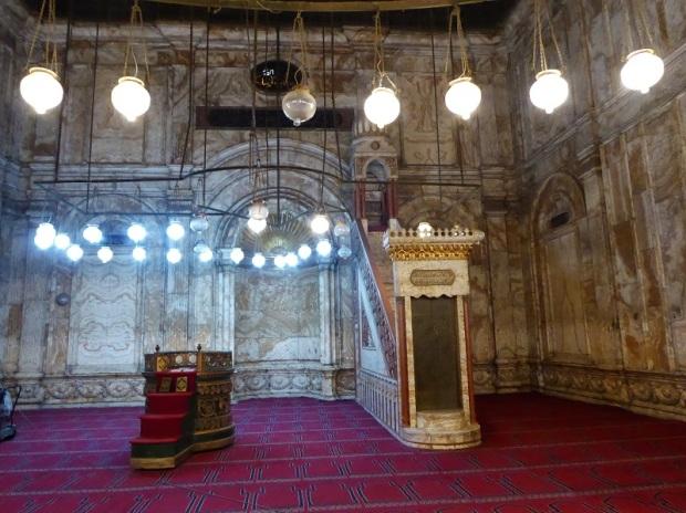 1033. El Cairo. La Ciudadela. Mezquita de Alabastro o de Mohammad Alí. El mihrab.