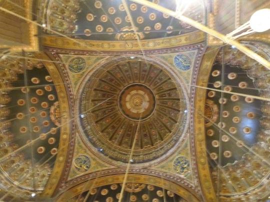 1036. El Cairo. La Ciudadela. Mezquita de Alabastro o de Mohammad Alí. Cúpula