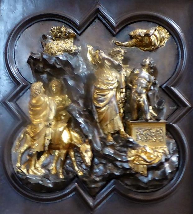 1048. Museo del Bargello. Panel de Ghiberti para el concurso d ela puerta del baptisterio de San Juan