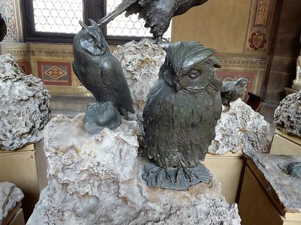1062. Museo del Bargello. Pájaros en bronce. Giambologna
