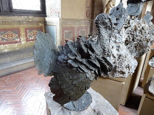 1063. Museo del Bargello. Pájaros en bronce. Giambologna