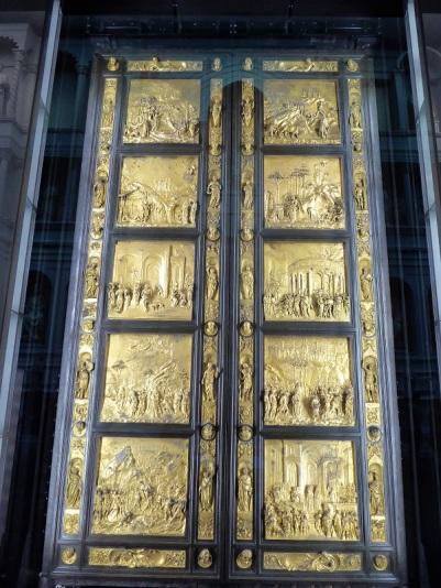 111. Museo della Opera del Duomo. Puerta del Paraiso del Batisterio. Detalle. Ghiberti. 1425-1452