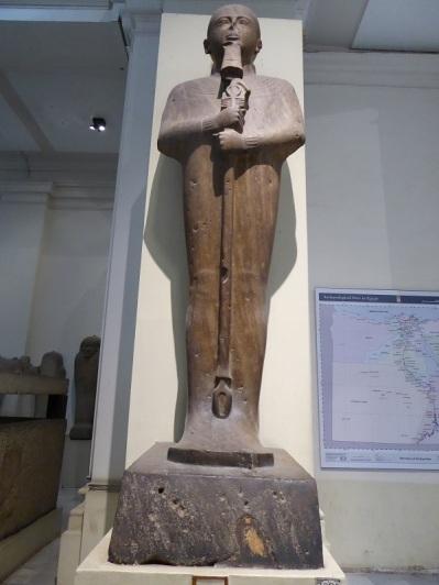 1126. Museo de Antigüedades. Estatua del dios Ptah. Proviene del templo de Ramsés II en Memfis.