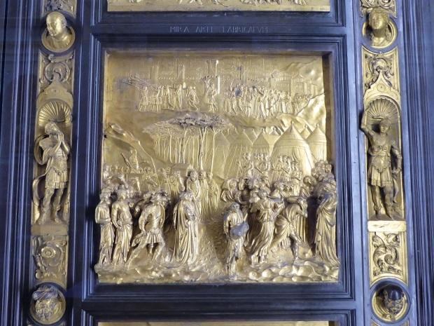 114. Museo della Opera del Duomo. Puerta del Paraiso del Batisterio. Detalle. Detalle. Ghiberti. 1425-1452.