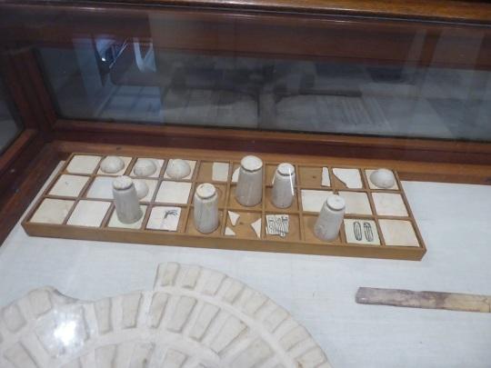 1156. Museo de Antigüedades. Tableros de juego