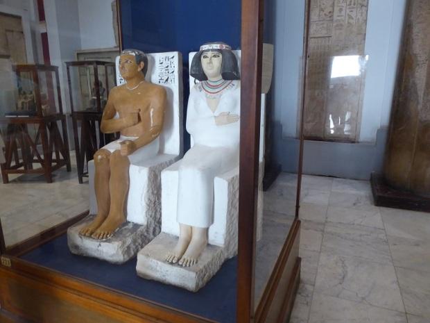 1173. Museo de Antigüedades. Rahotep y su esposa Nofret