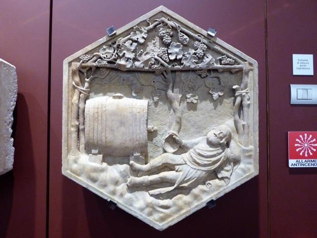 127. Museo della Opera del Duomo. Borrachera de Noé. Andrea Pisano y ayudantes. 1343-1348