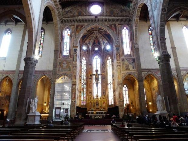 188. Santa Croce. Interior. Transepto y cabecera