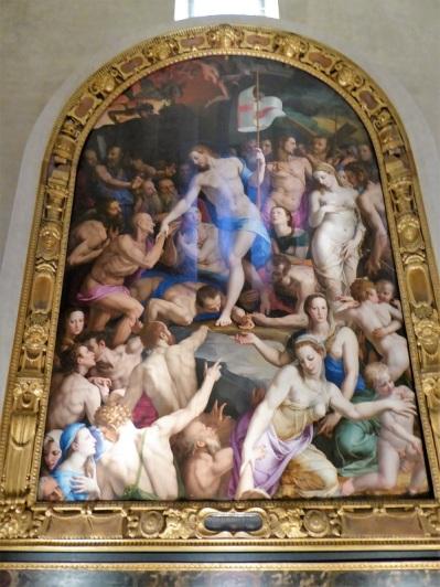 208. Santa Croce. Capilla Medici. Descenso al Limbo. Bronzino. 1552