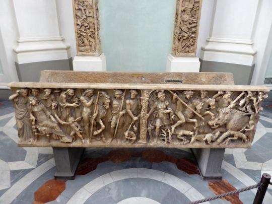 292. Uffizi. Sarcófago romano. Fecra e Hipólito. Siglo III