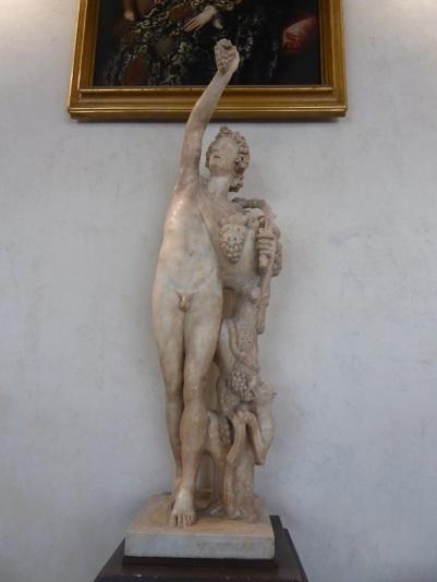 295. Uffizi. Sátiro. Copia romana de los siglos II-III de un original griego en bronce del siglo II a. C.