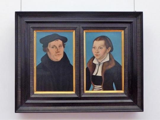 309. Los Uffizi. Martín Lutero y su mujer. Taller de Lucas Cranach el Viejo. 1458-1459