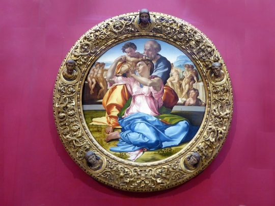 313. Los Uffizi. Tondo Doni. Miguel Ángel