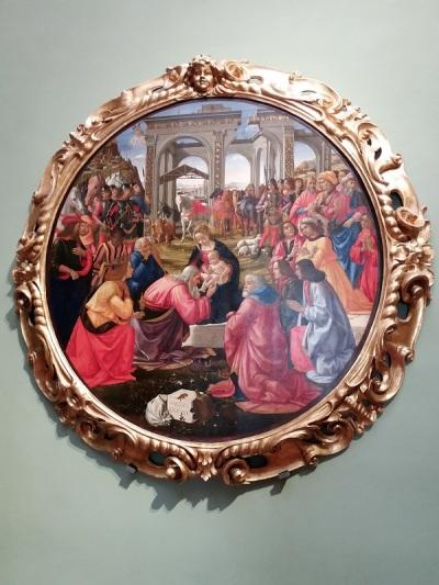 317. Los Uffizi. Adoración de los Magos. Ghirlandaio. 1487