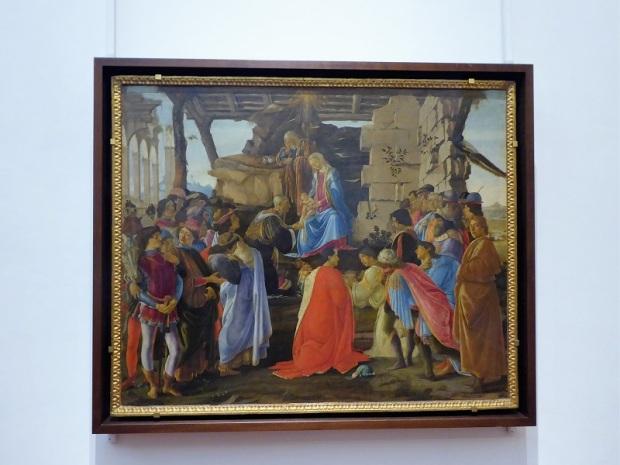 326. Los Uffizi. Adoración de los Magos. Botticelli. 1475