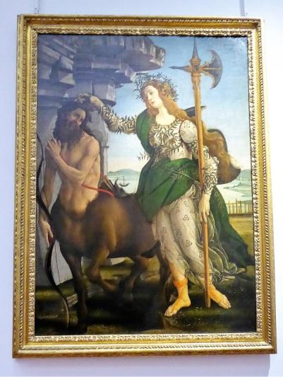 329. Los Uffizi. Palas y el centauro. Botticelli. 1482-1485