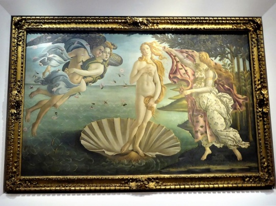 330. Los Uffizi. Nacimiento de Venus. Botticelli.
