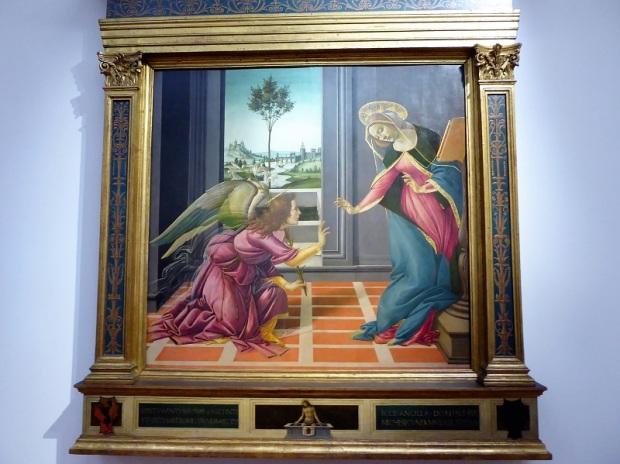 331. Los Uffizi. Anunciación. Botticelli. 1489-1490