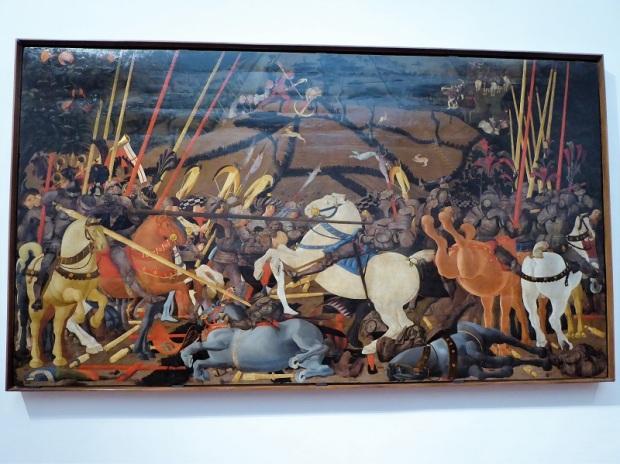 333. Los Uffizi. batalla de San Romano. paolo Uccello. 1435-1440