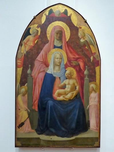 334. Los Uffizi. Santa Ana Triple con ángeles. Masolino. 1424-1425