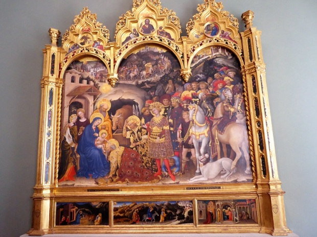 336. Los Uffizi. Adoración de los Magos. Gentile da Fabriano. 1423