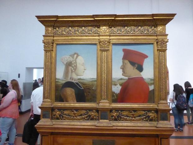337. Los Uffizi. Duques de Urbino. Piero della Francesca. 1472-1475