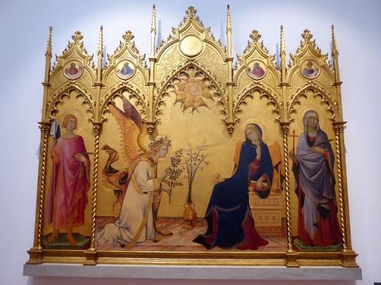 339. Los Uffizi. anunciación. Simone Martini. 1333