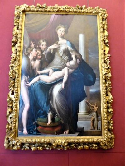 347. Los Uffizi. Virgen del cuello largo. Parmigianino. 1534-1540