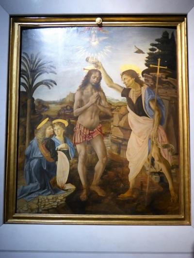349. Los Uffizi. Bautismo de Crsto. Andrea del Sarto