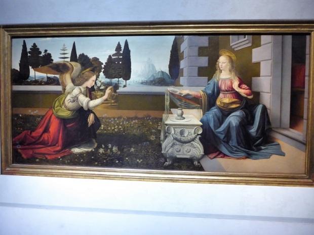 350. Los Uffizi. Anunciación. Leonardo. 1472