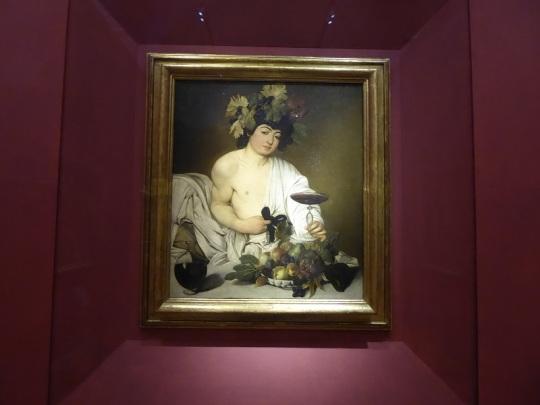 359. Los Uffizi. Baco. Caravaggio. 1597-1598