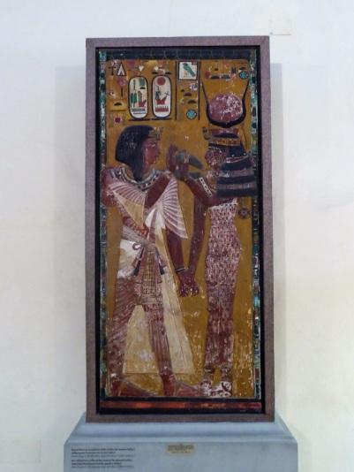 500. Museo Arqueológico. Tumba del faraón Seti I. El faraón y la diosa Hathor (1289-1279 a. C.)