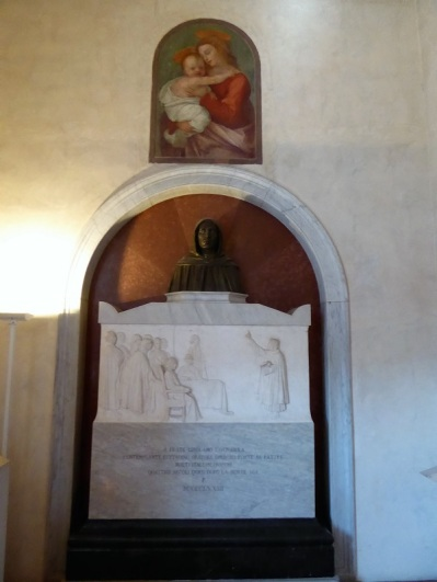 562. Convento de San Marcos. Celdas. Homenaje a Savonarola