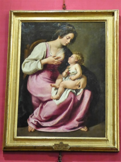 638. Palazzo Pitti. Galería Palatina. Virgen con el Niño. Artemisa Gentileschi