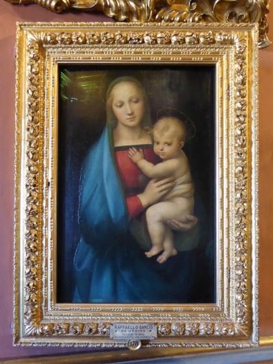 656. Palazzo Pitti. Galería Palatina. Virgen llamada del Gran Duque. Rafael